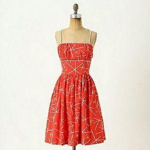 anthropologie nostalgic asterick dress